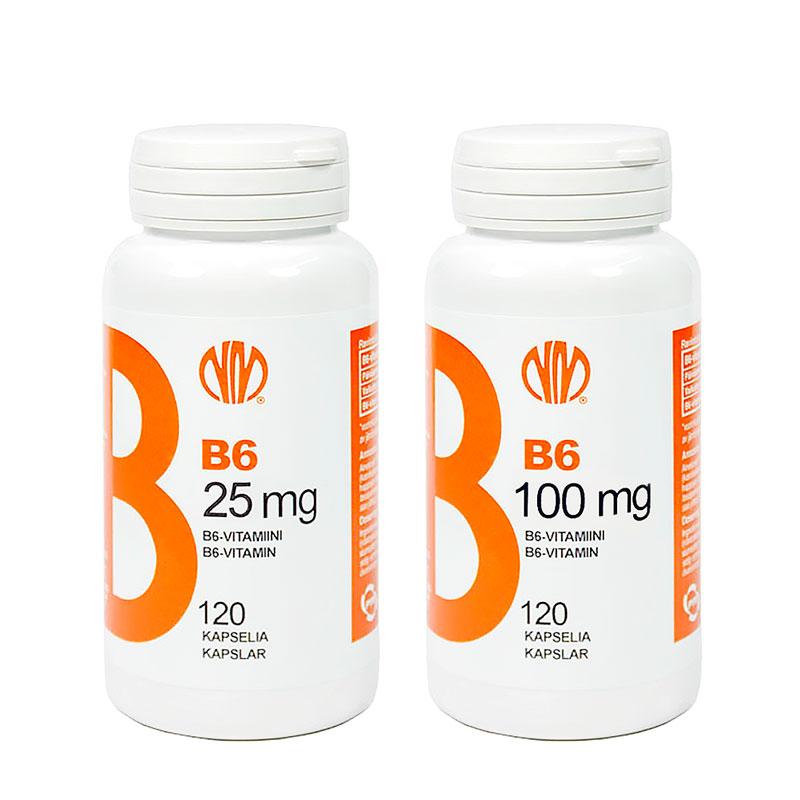 B6-vitamiini 25 mg - Natura Media