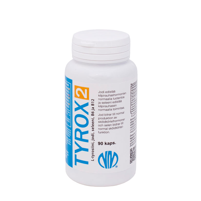 Tyrox 2 (jodi 75 µg, seleeni 50 µg, L-tyrosiini 500 mg)