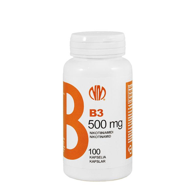 B3-vitamiini nikotiiniamidi 500mg
