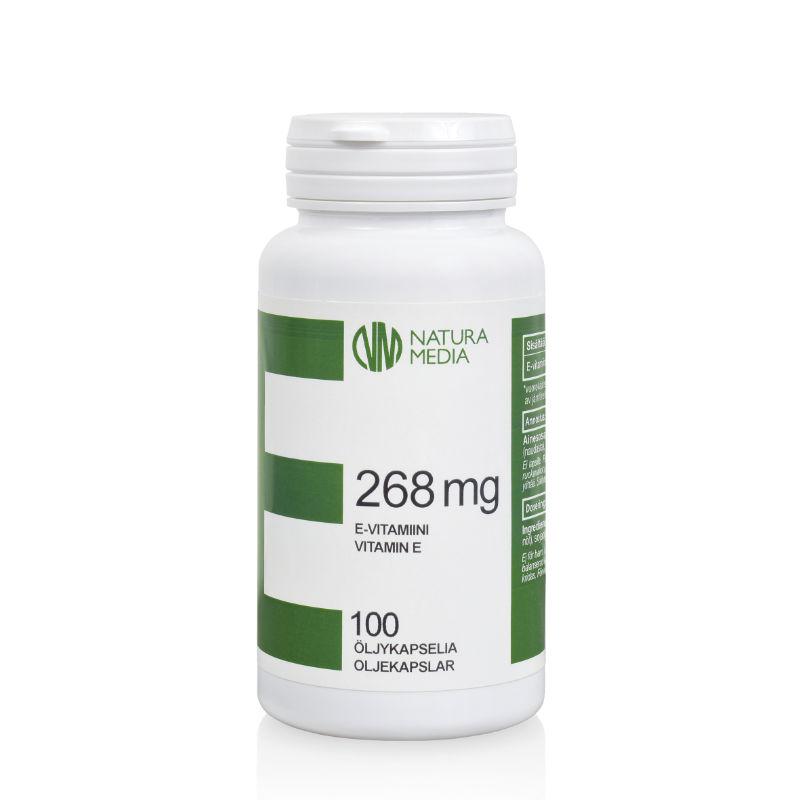 E-vitamiini 268 mg - Natura Media