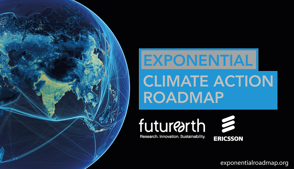 You are invited to join us LIVE ONLINE for a presentation and discussion of the Exponential Climate Action Roadmap, which was launched at the Global Climate Action Summit in September 2018 by Johan Rockström and Christiana Figueres. The roadmap shows how the global greenhouse gas emissions can be halved by 2030 in line with IPCC 1,5 degree report and Carbon Law. The roadmap has resulted in more than 250 articles worldwide and over 300 companies have committed to following a Carbon Law trajectory of halving emissions every decade.