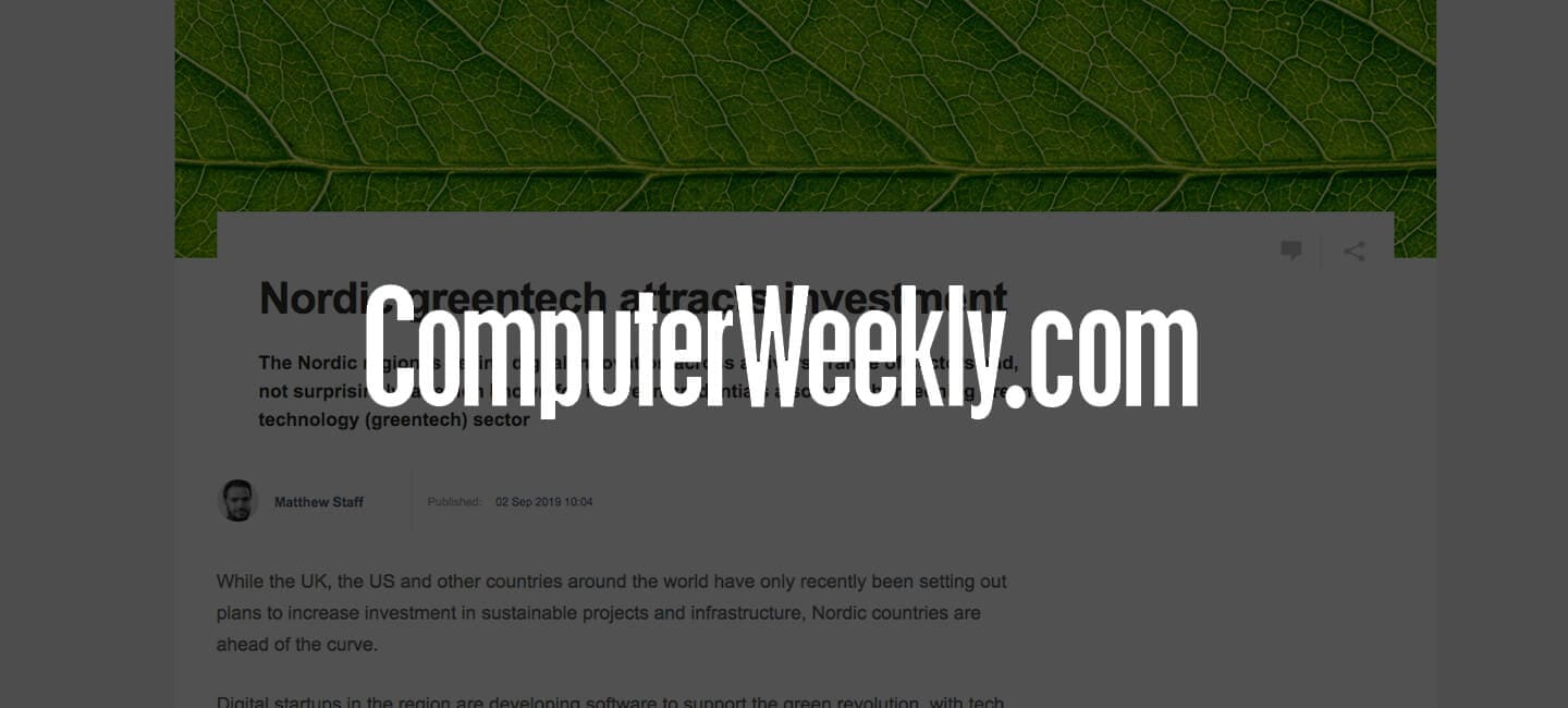 Increased interest in ClimateView covered by ComputerWeekly