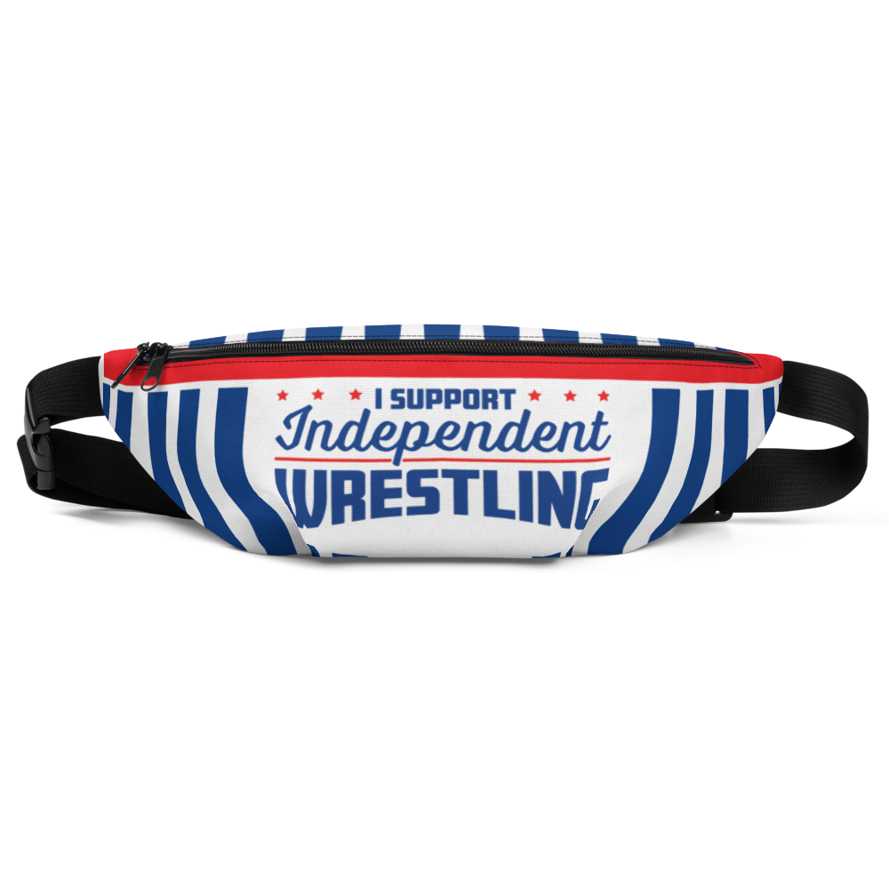 I Support Independent Wrestling Fanny Pack - - Independent Professional Wrestling Artwork & Merchandise by Mouthpiece Studios