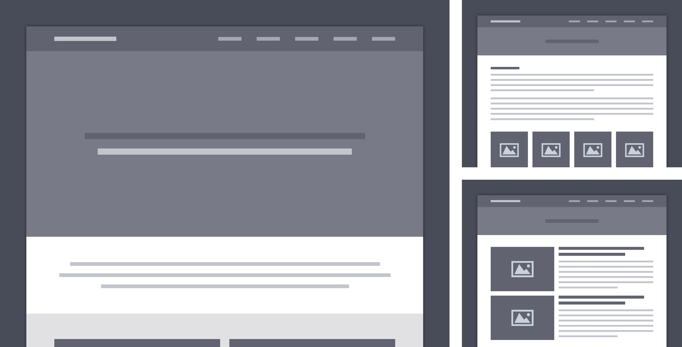 Personal Website wireframes