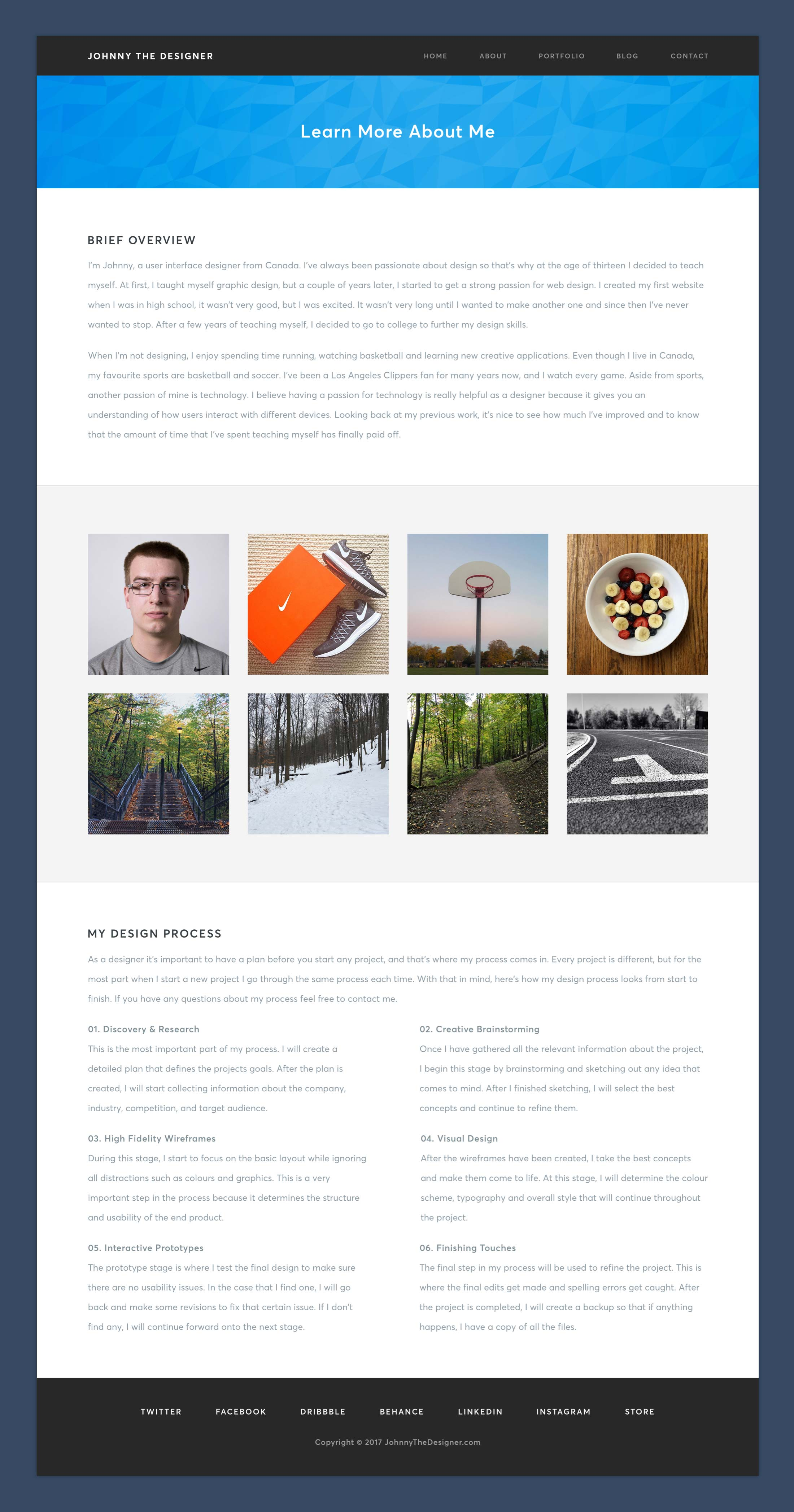 Personal Website - About Page
