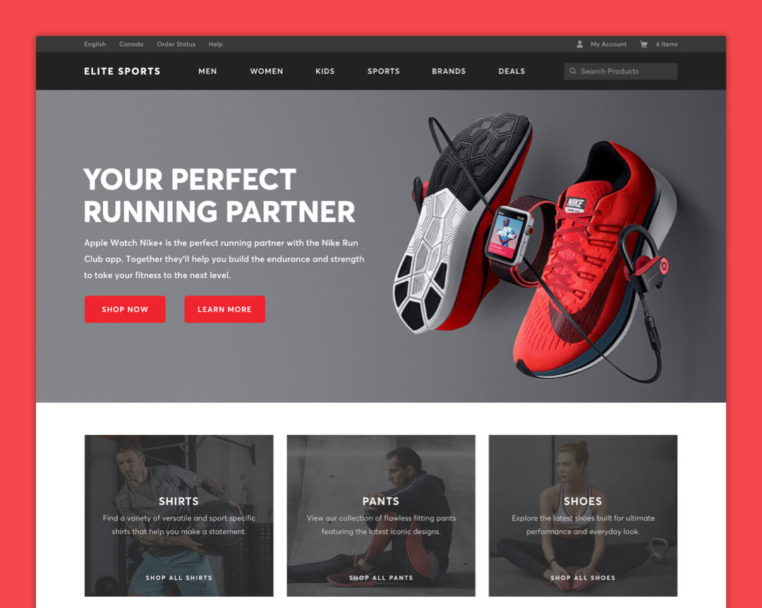 Elite Sports Apparel - Home Page