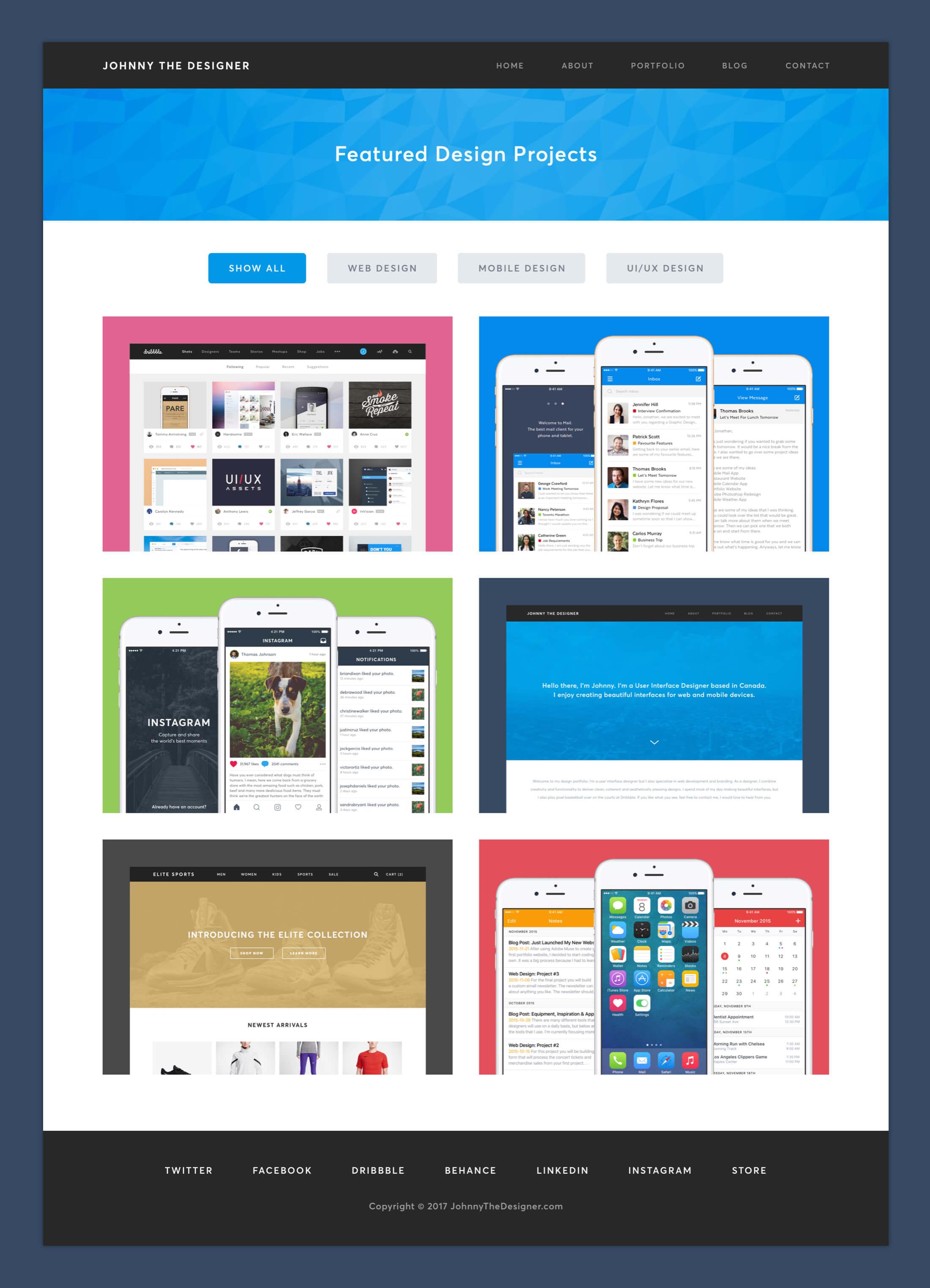 Personal Website - Portfolio Page