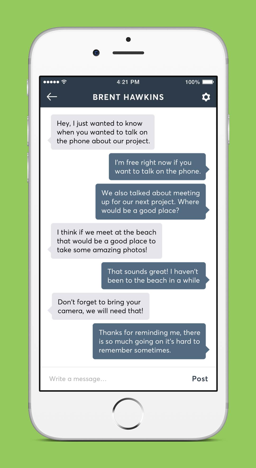 Instagram Redesign - Conversation Screen