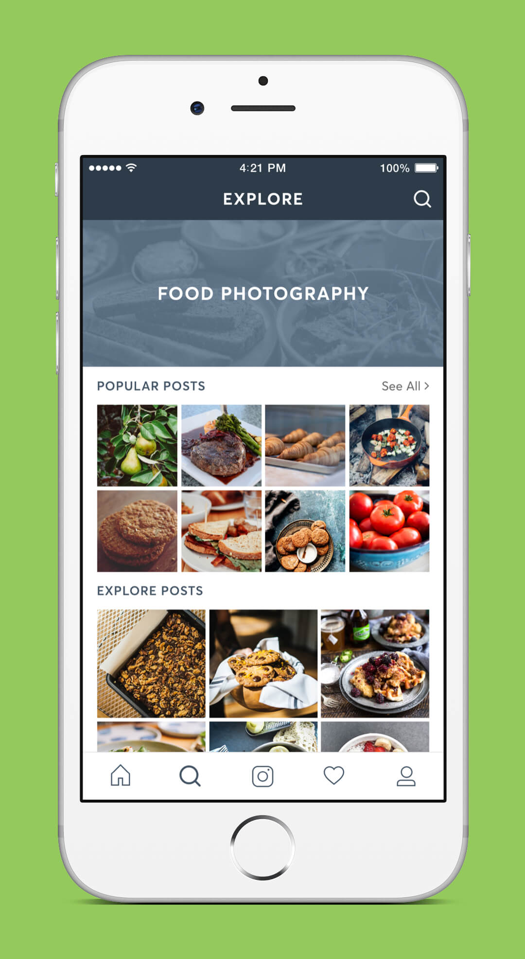 Instagram Redesign - Explore Screen