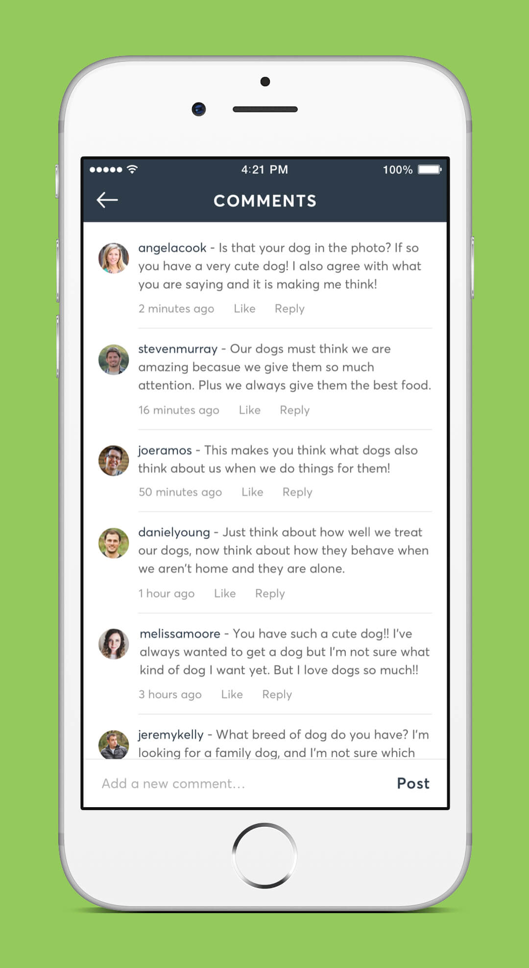 Instagram Redesign - Comments Screen