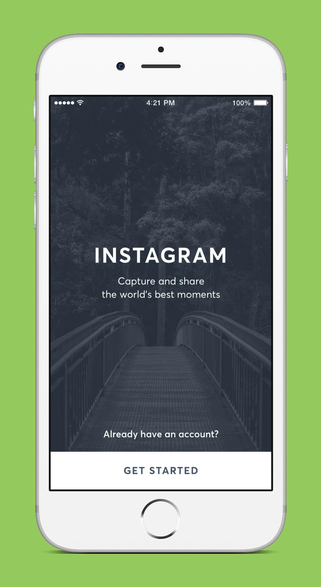 Instagram Redesign - Splash Screen