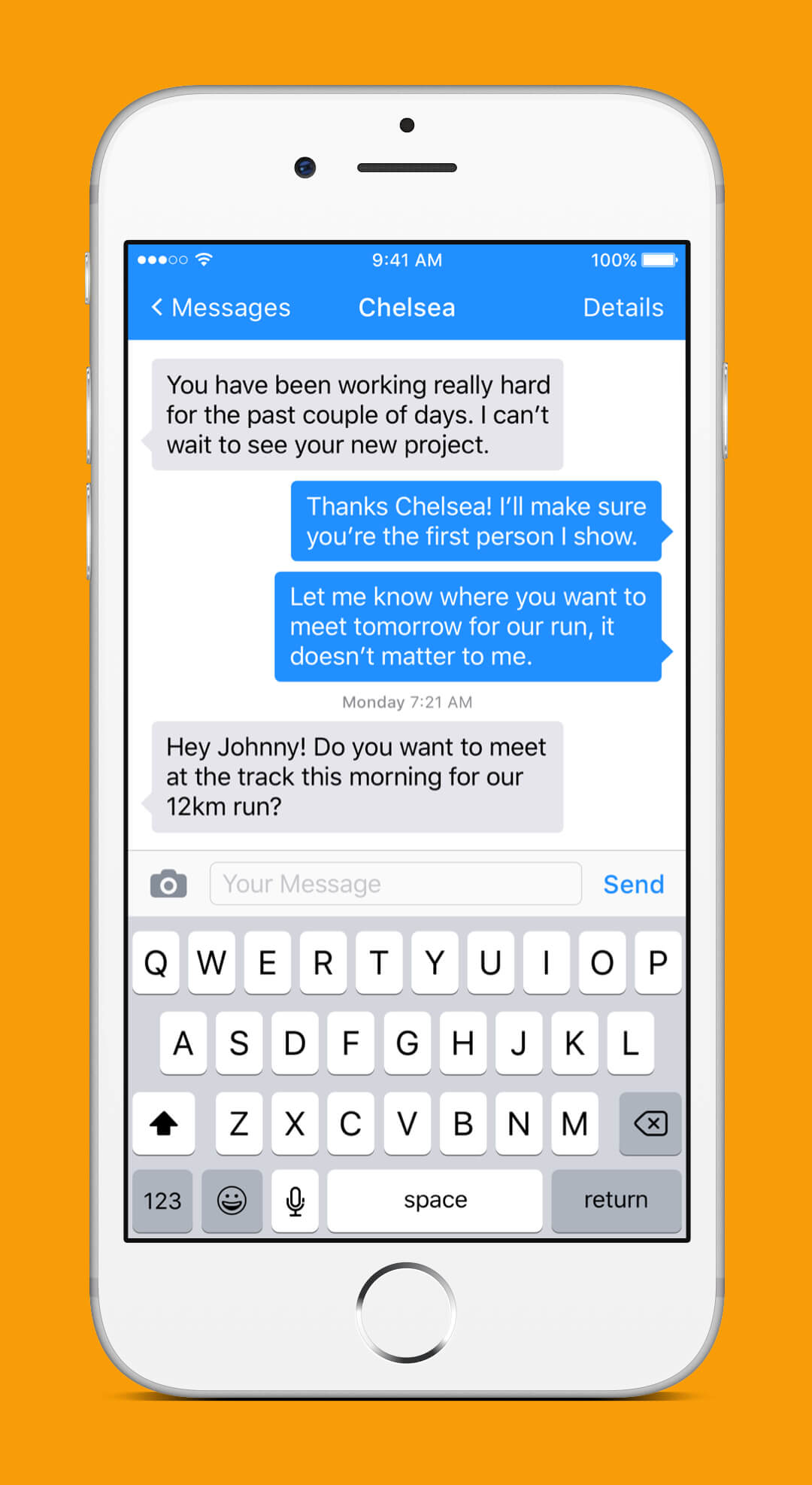 iOS 9 Redesign - Conversation Screen