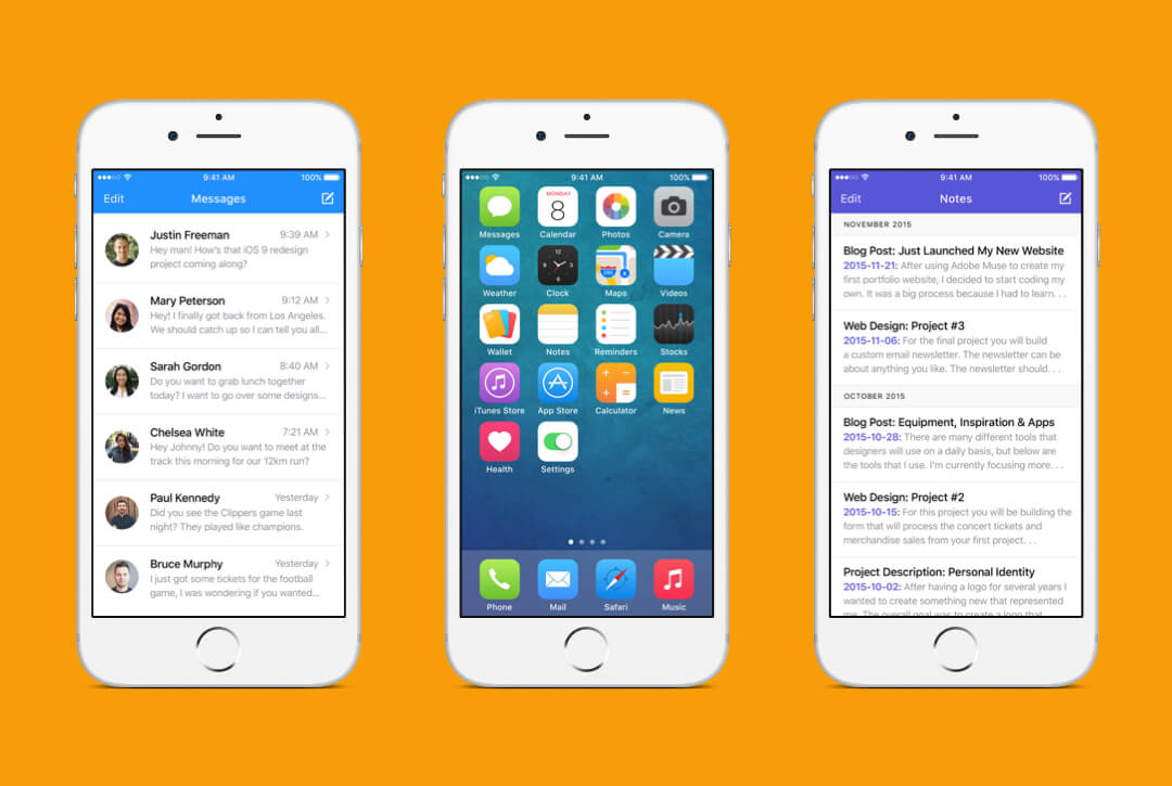 iOS 9 Redesign preview image