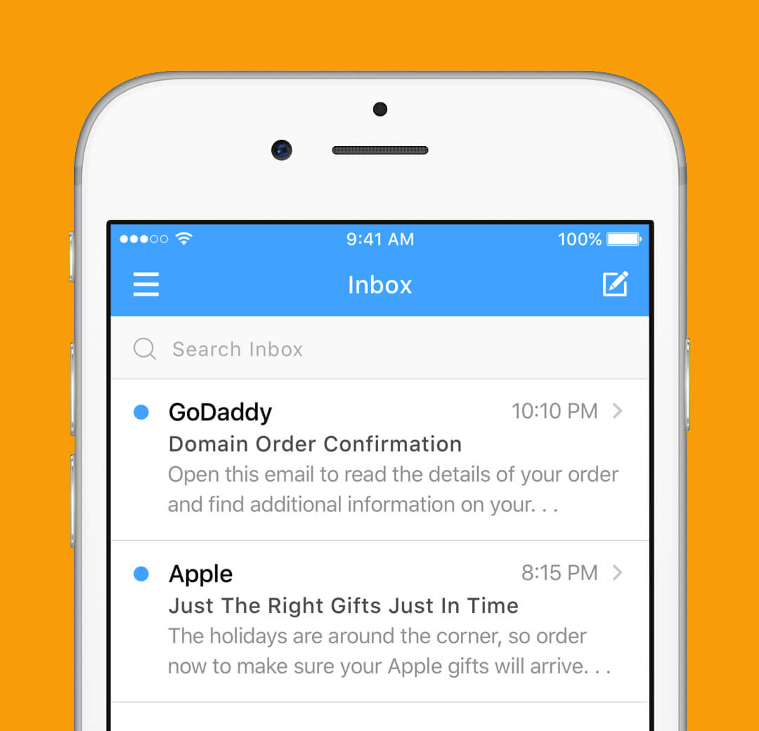 iOS 9 Redesign - Inbox Screen