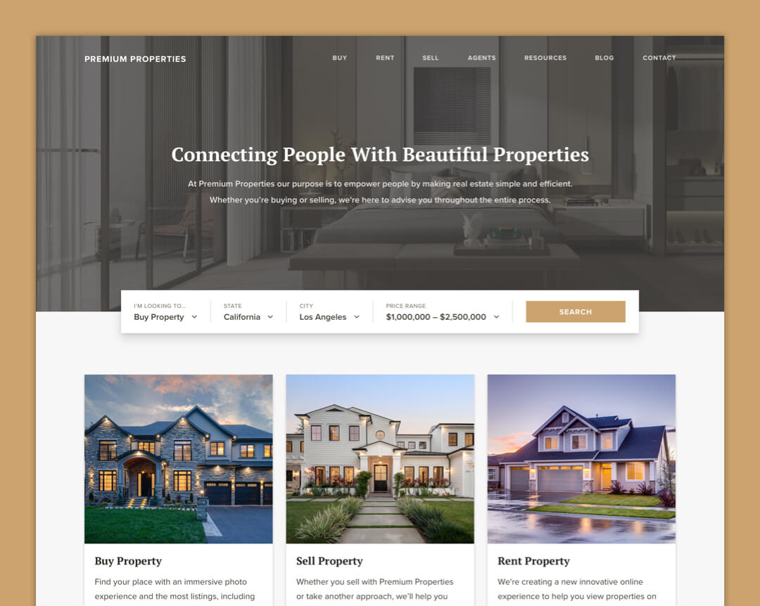 Premium Properties - Home Page