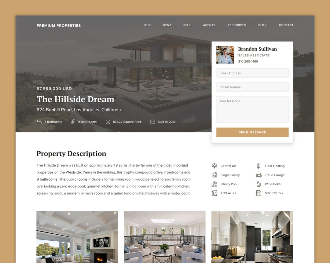 Premium Properties - Property Page