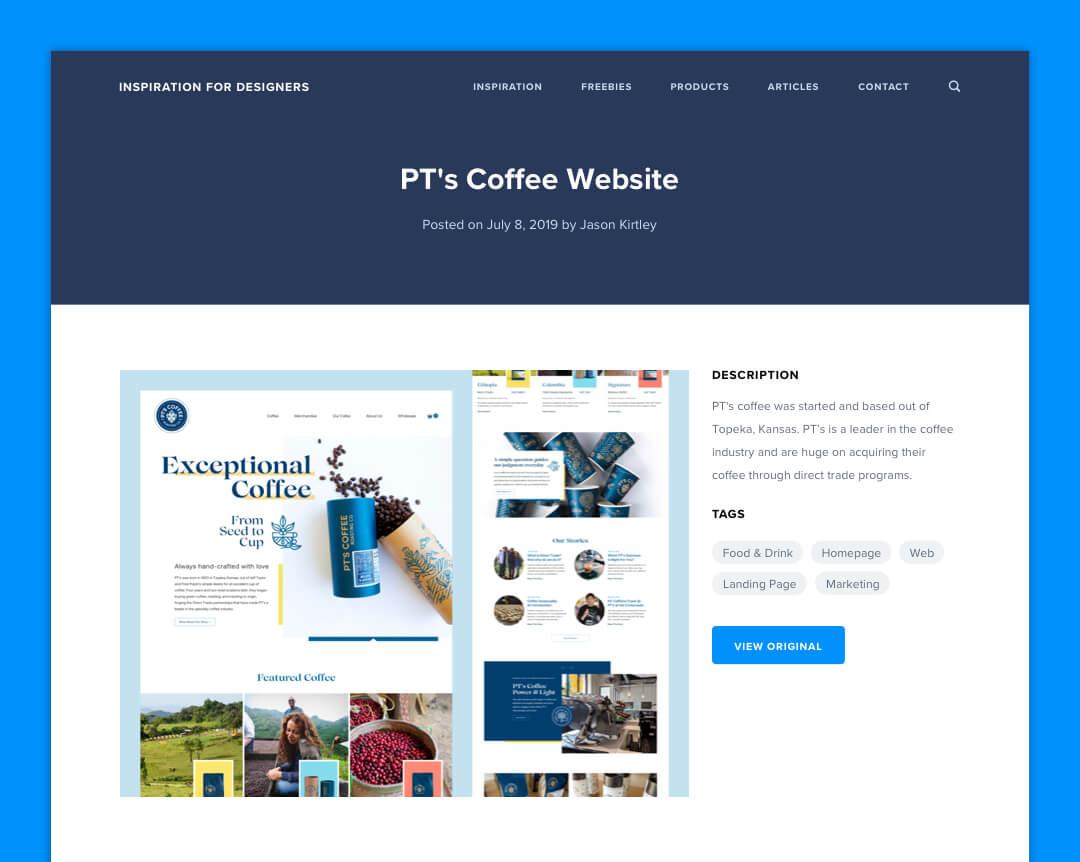 Inspiration For Designers - Inspiration Item Page