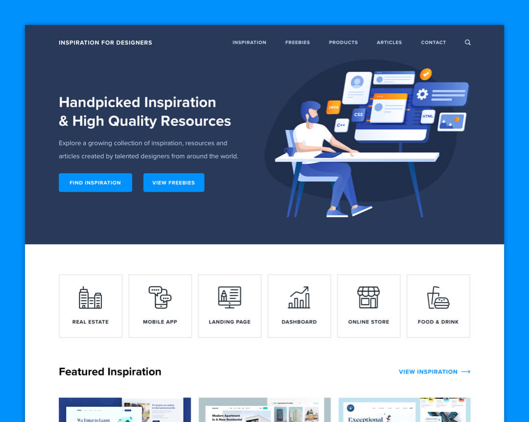 Inspiration For Designers - Home Page