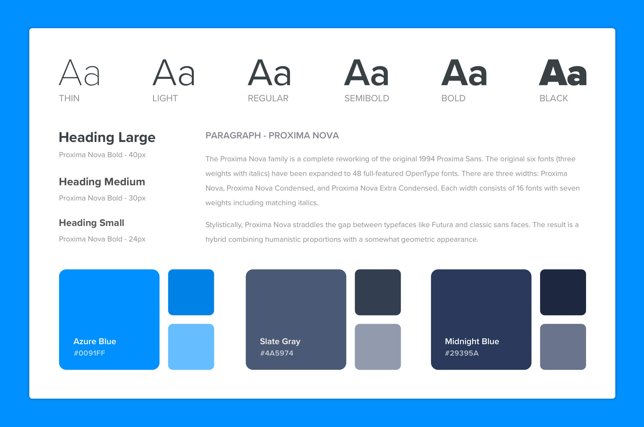 Inspiration For Designers style guide
