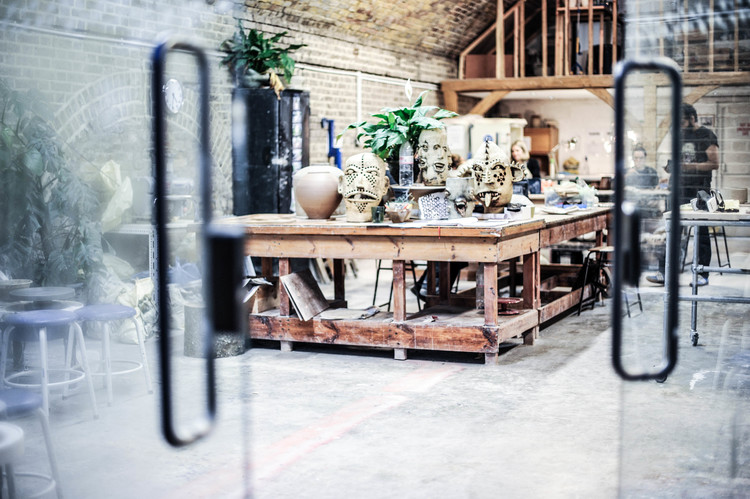 The pottery studio at Turning Earth Hoxton