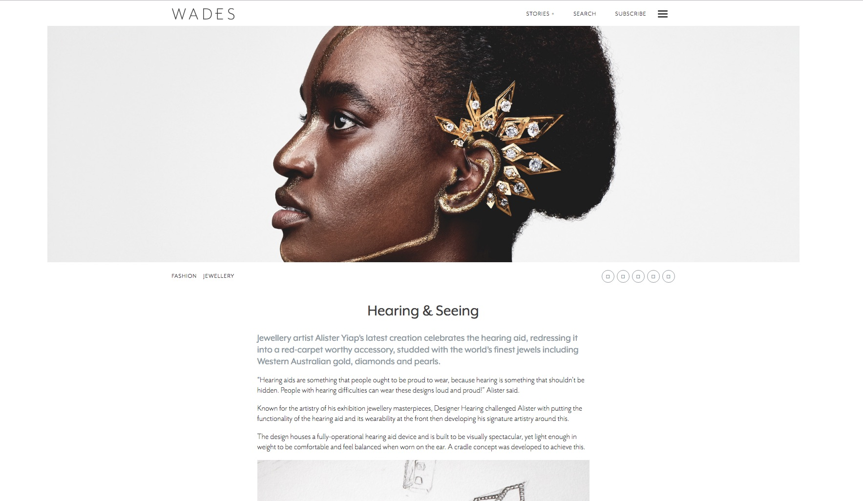 Alister Yiap's Designer Hearing Project featured in Wades Online