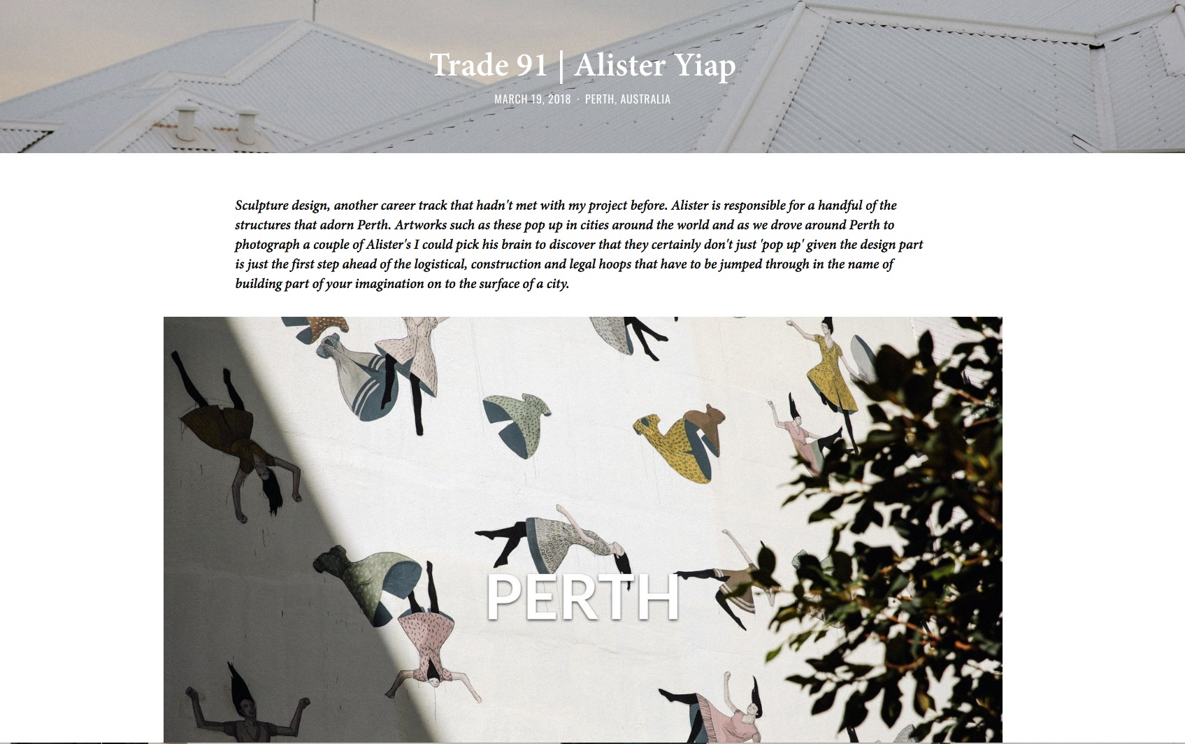 Trade 91 | Alister Yiap by Richard Tilney-Bassett from The Glass Passport