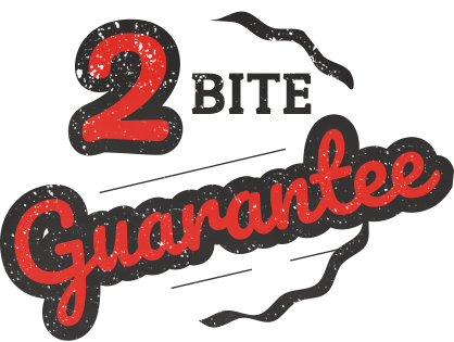 2 Bite Guarantee at Soda Jerks