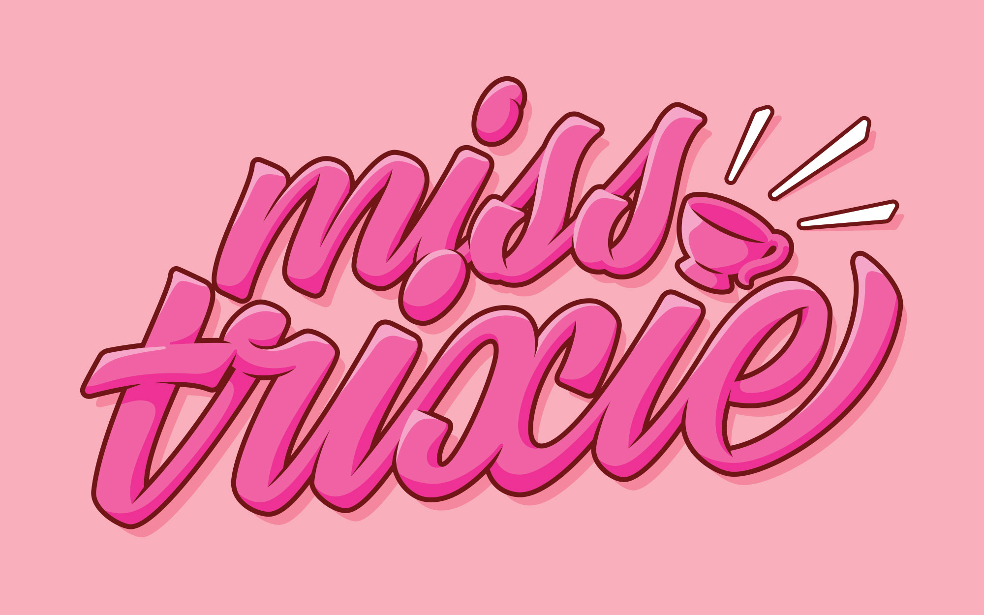 A pink script logo which reads Miss Trixie.