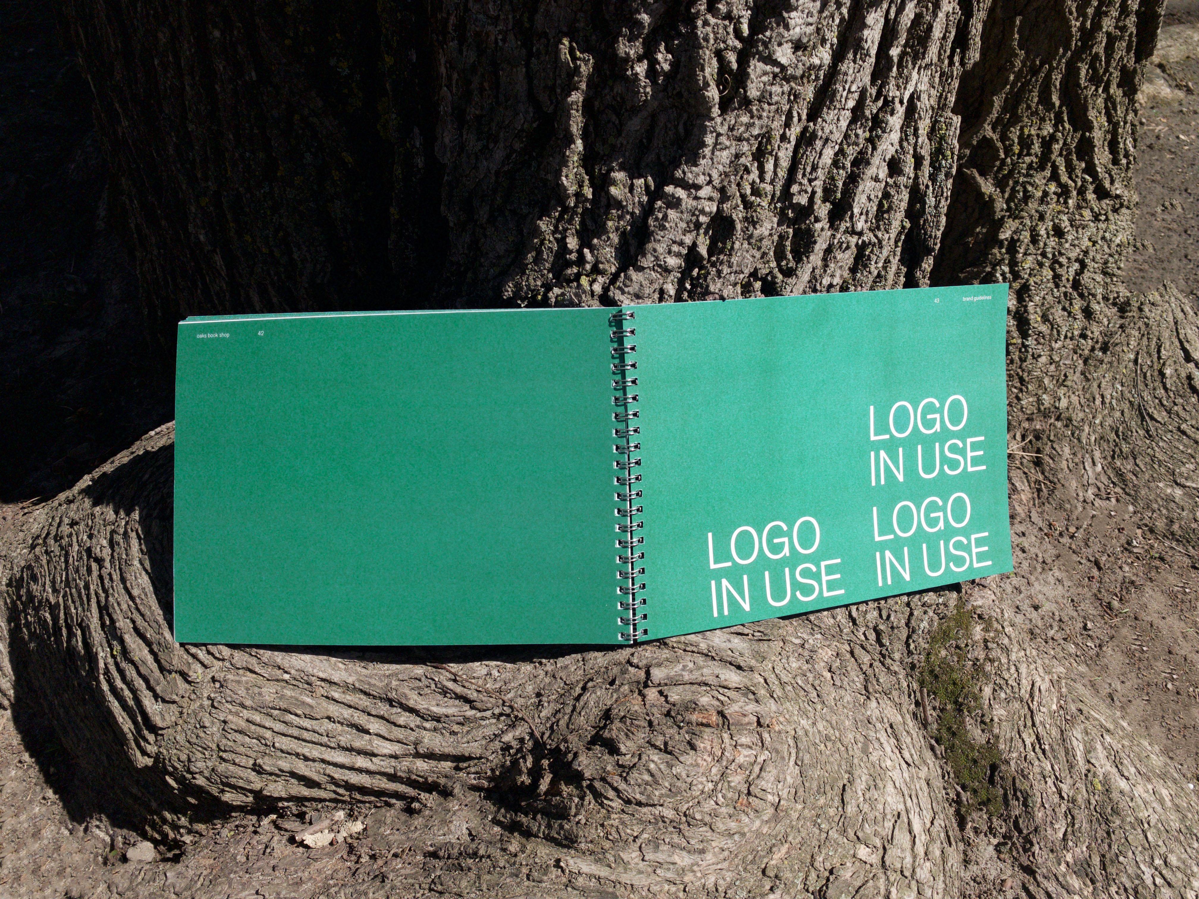 oak book spread