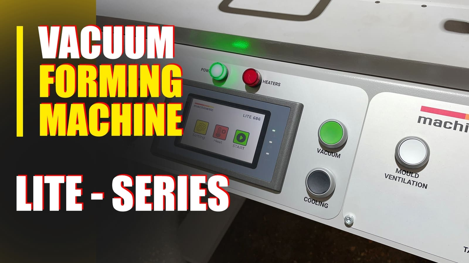Video manual vacuum forming machine