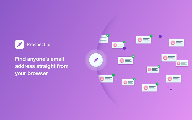 find the email address of your prospect via prospect.io