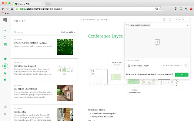 Get all your notes organised in Evernote and share them with others