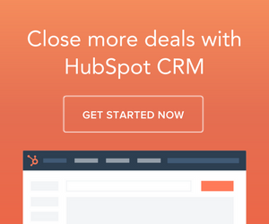 Close more deals using a CRM system like Hubspot