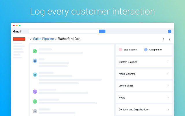 Log every client interaction using Streak
