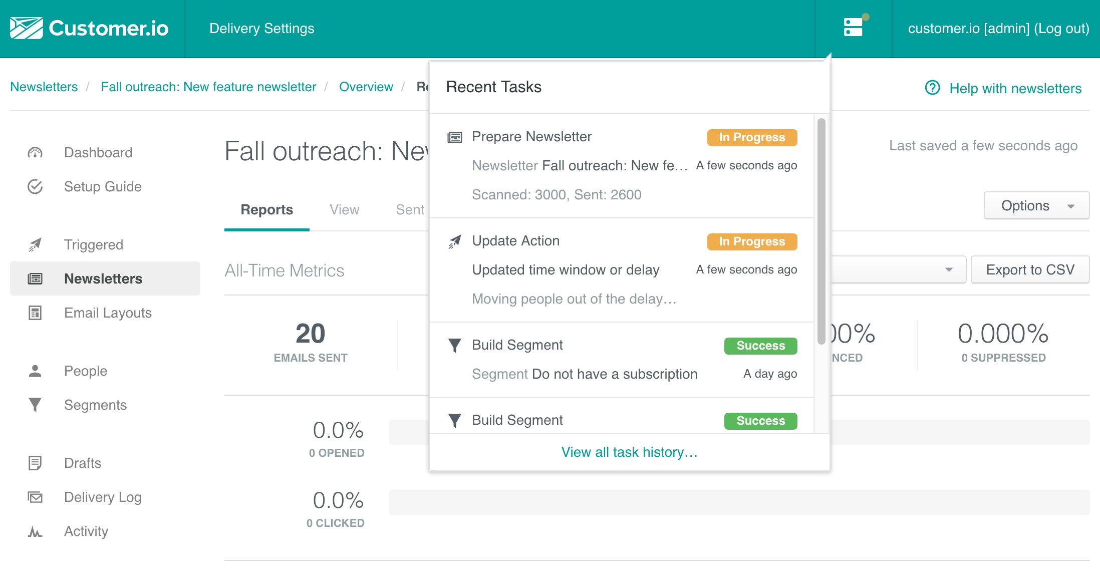 Build segmented newsletters audiences and plan actions on them