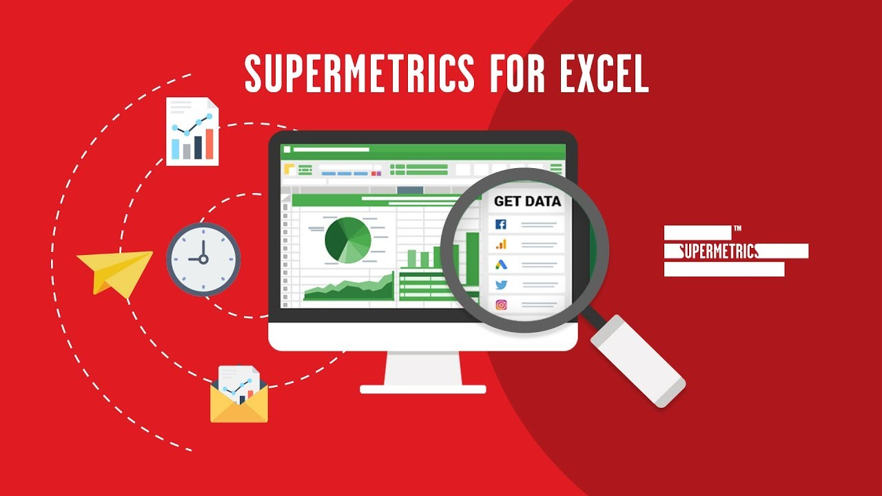 Screenshot of what Supermetrics can do for you within Excel