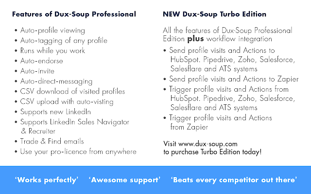 Automate your linkedin work with Dux Soup