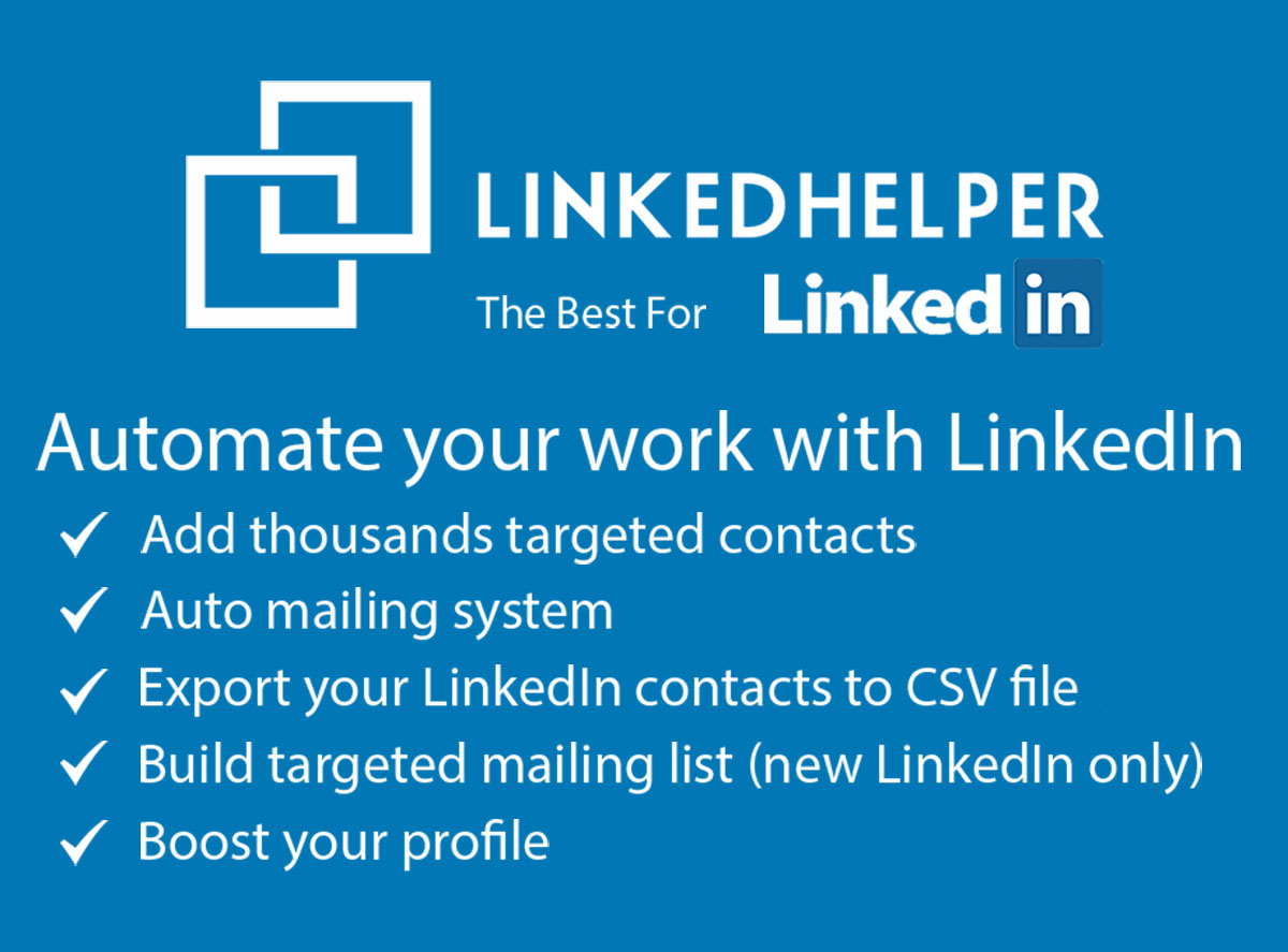 Scale your Linkedin outreach by automating the tasks with Linkedin Helper