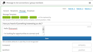 Add personalized attributes in your linkedin automation with Linked Helper