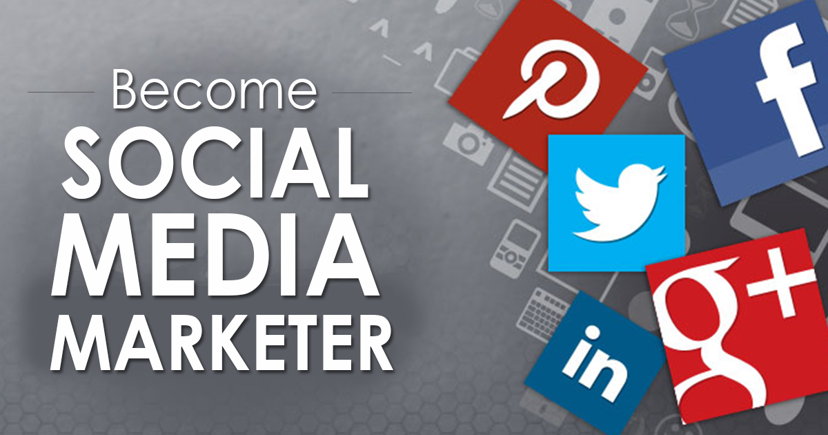 Screenshot of: become social media marketer