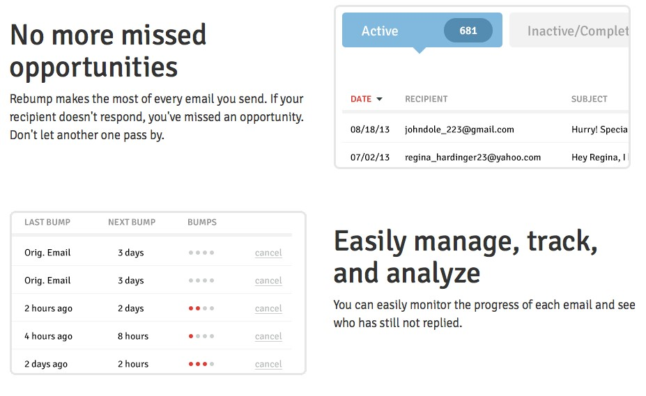 Make the most out of email, track and analyze everything