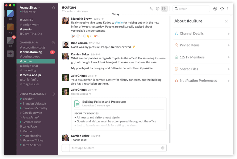 Add different slack groups to desktop app to manage all your projects