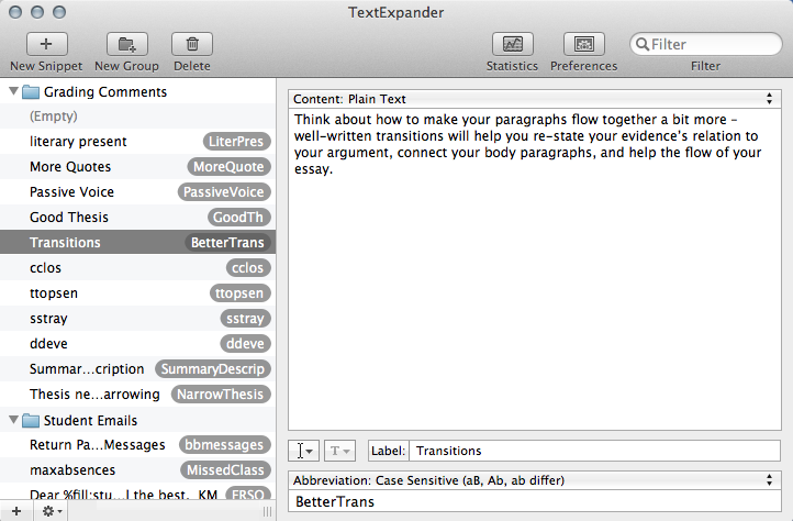 Create snips to save time within sales, marketing or any other profession with TextExpander