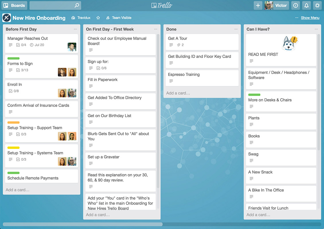Create a project board for every project within Trello