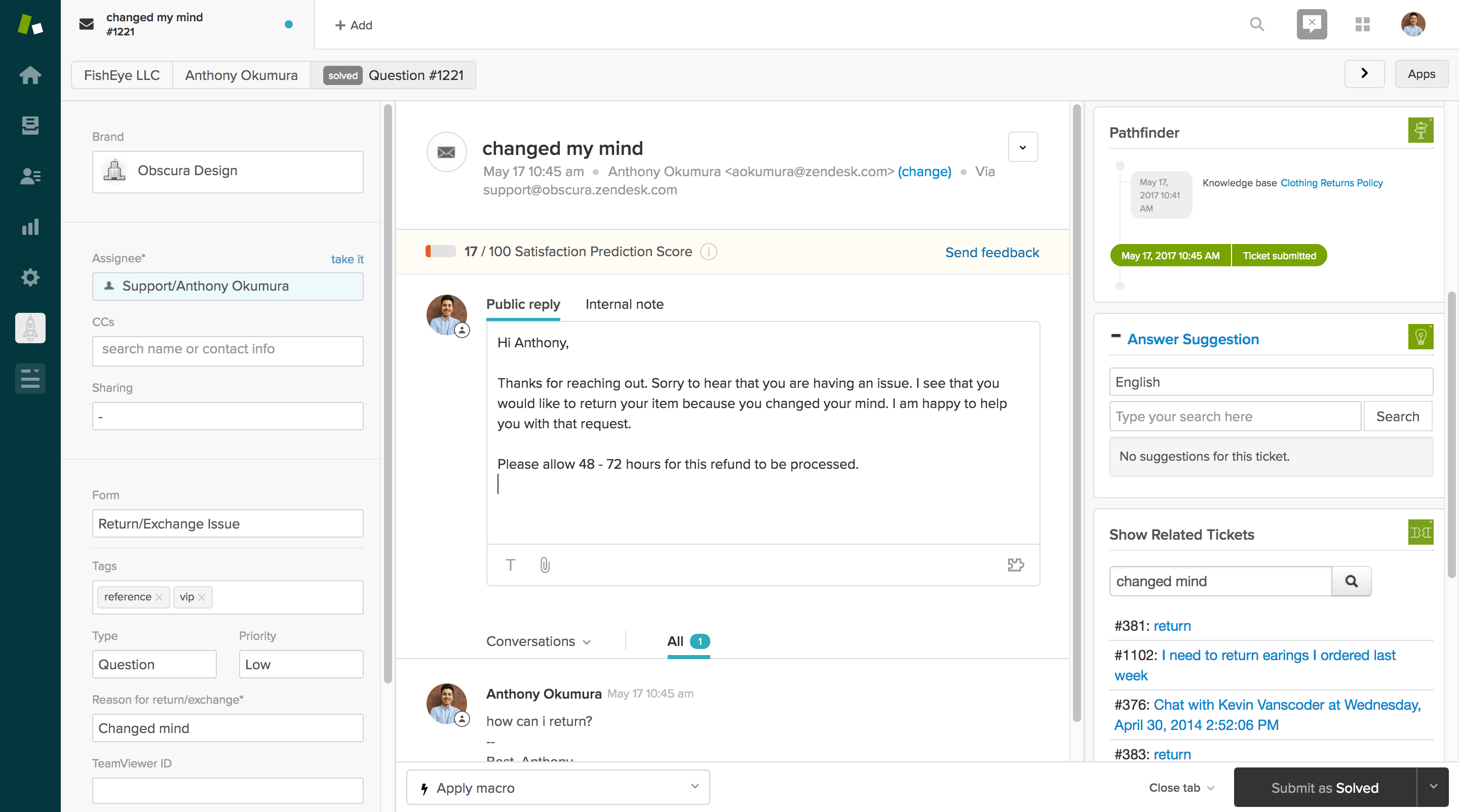 Organize your customer tickets and respond to them quickly using Zendesk