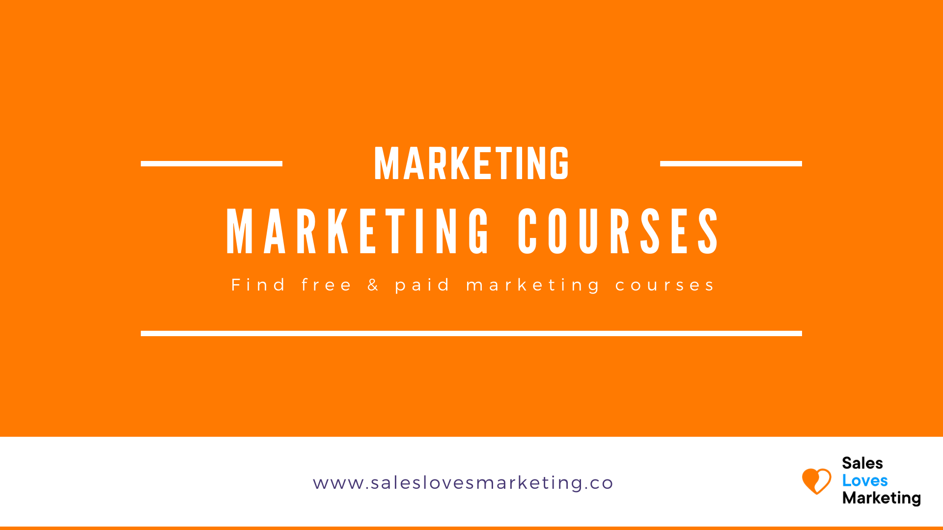 See all the free and paid marketing course on one page