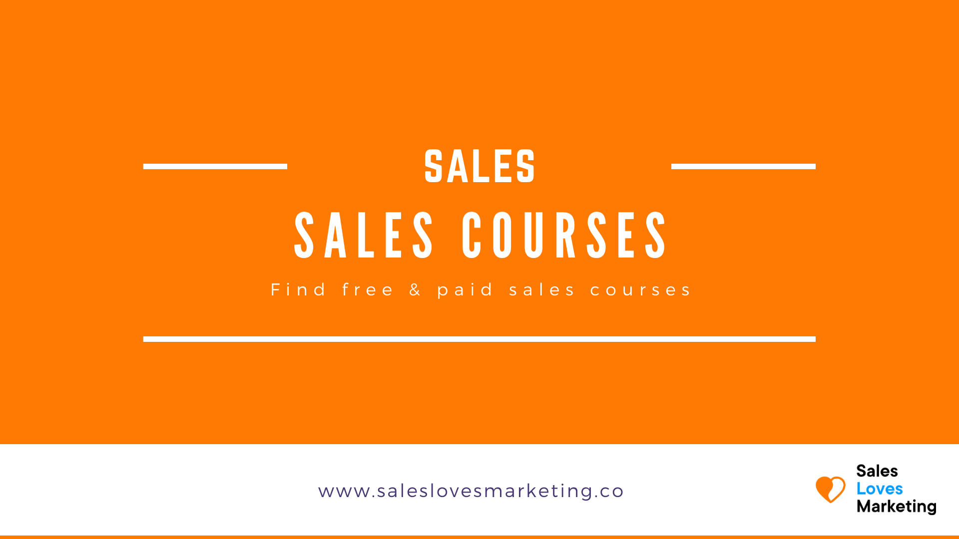 All the free and paid sales courses in one overview