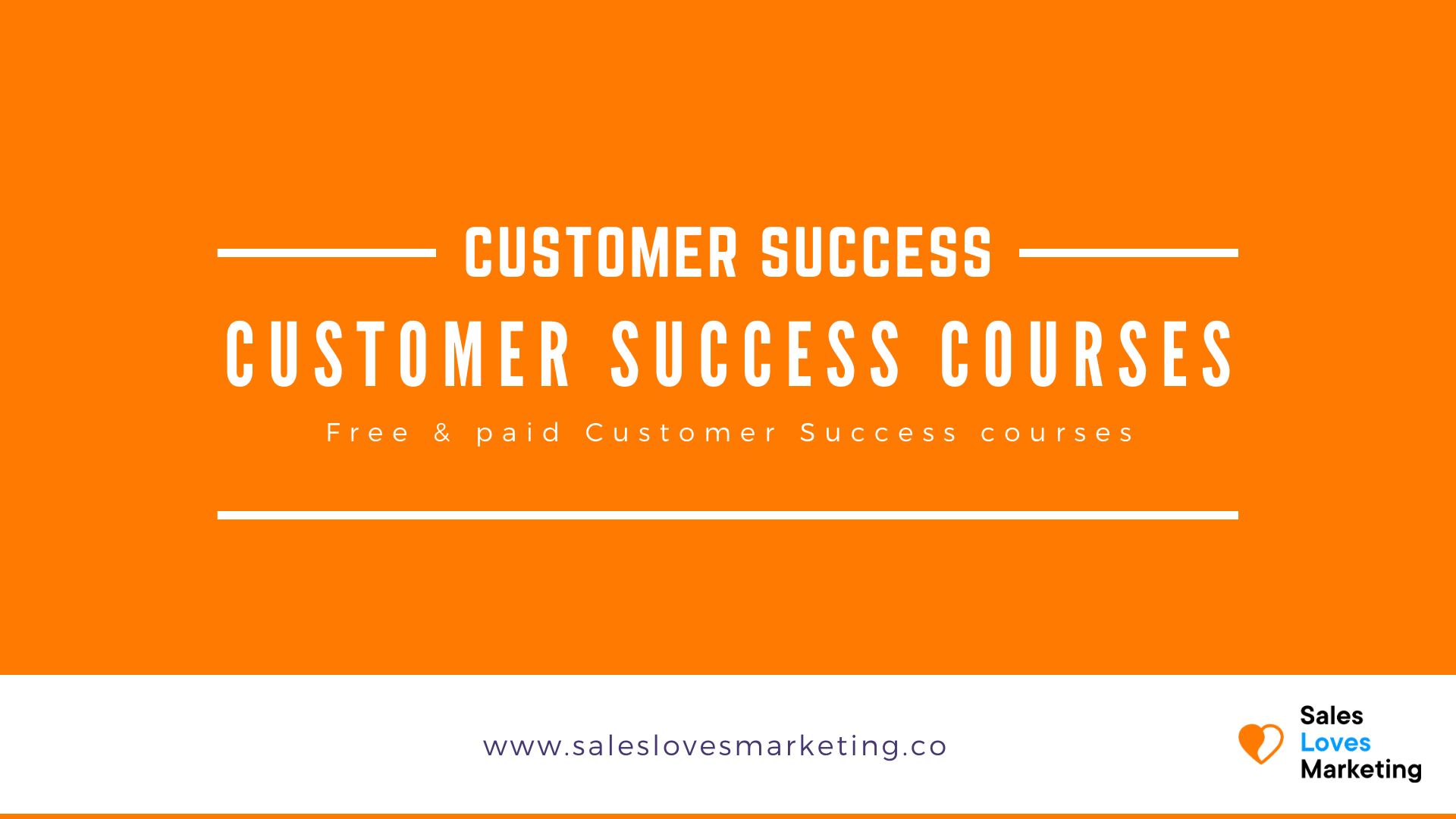 All free & paid Customer Success Courses listed on one page