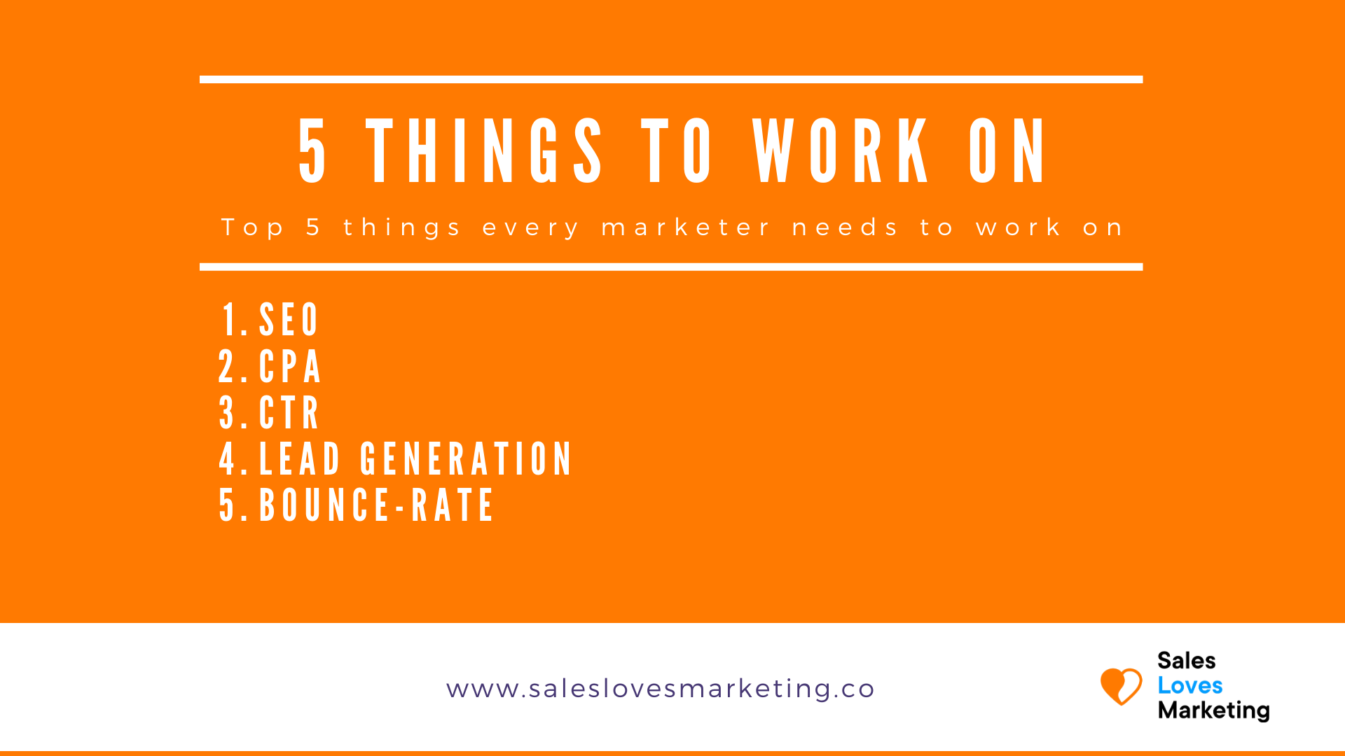 5 top things every marketing should work on.