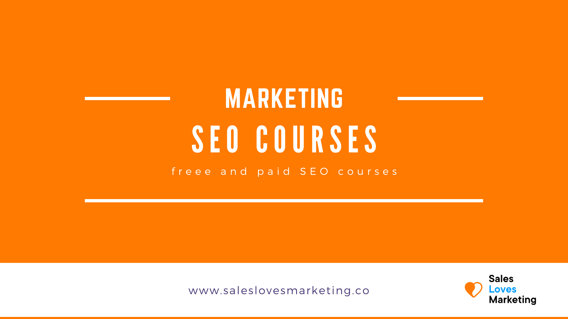 Free SEO courses to learn everything about Search Engine Optimization